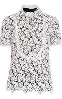 Erdem Deacon Lace Top with Collar - Lyst