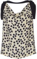Balenciaga Sleeveless Floral Print Top - Lyst