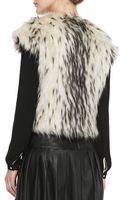 Twelfth Street by Cynthia Vincent Chainmaildetail Fauxfur Vest - Lyst