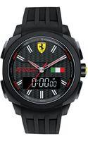 Scuderia Ferrari Mens Analog-digital Aerodinamico Black Silicone Strap Watch 46mm - Lyst