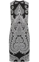 Michael Kors Paisley Print Crepe Dress - Lyst