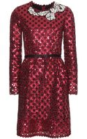 Marc Jacobs Embellished Lace Dress - Lyst