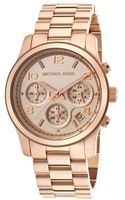 Michael Kors Womens Chronograph Rose Gold Tone Dial and Bracelet - Lyst