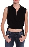 Alexander Wang Wrap Top - Lyst