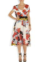 Michael Van Der Ham Printed Silk and Silk organza Dress - Lyst