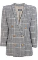 Giorgio Armani Vintage Checked Jacket - Lyst