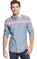 Tommy Hilfiger Slim Fit Worthen Pieced Shirt - Lyst