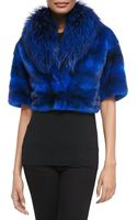 Michael Kors Minkfox Fur Cropped Jacket - Lyst