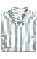 Brooks Brothers Noniron Extraslim Fit Stripe Sport Shirt - Lyst
