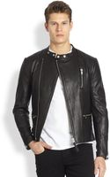 Mackage Leather Moto Jacket - Lyst