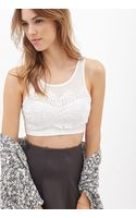 Forever 21 Floral  Mesh Crop Top - Lyst