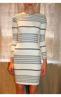 Yigal Azrouel Stripe Knit Dress Optic - Lyst
