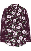 Equipment Cabernet Floral Print Stretch Silk Shirt - Lyst