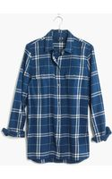 Madewell Flannel Exboyfriend Shirt in Aurora Plaid - Lyst