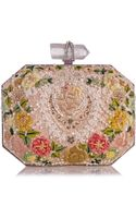 Marchesa Floral Embroidered Box Clutch Bag Multi - Lyst