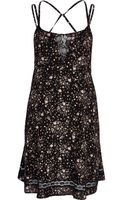 River Island  Ditsy Print Lace Insert Slip Dress - Lyst