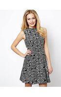 Oasis Jacquard Sleeveless Dress - Lyst
