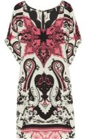 Etro Printed Silk Mini Dress - Lyst