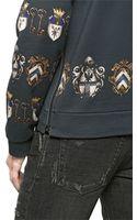 Dolce & Gabbana Heraldic Print Hooded Cotton Sweatshirt - Lyst