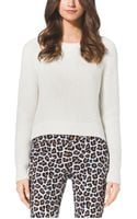 Michael Kors Cropped Crewneck Sweater - Lyst