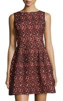 Aidan Mattox Fit-and-flare Lace Dress - Lyst