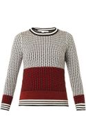 Diane Von Furstenberg Microstitch Wool Sweater - Lyst