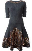 Kenzo Embellished Knit Dress - Lyst