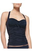 Seafolly Goddess Ruched Halter Tankini Top - Lyst