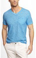 Express Garment Dyed Slub V-neck Pocket Tee - Lyst