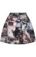 Carven Rock Print Satin Skirt - Lyst