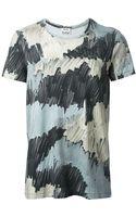 Acne Studios Camouflage Print Tshirt - Lyst