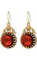 Lauren by Ralph Lauren Bohemian Heiress Faceted Stone Bezel Set Drop Earrings - Lyst