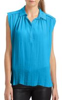 Rebecca Taylor Georgette Top - Lyst