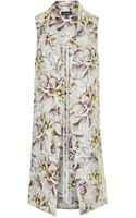 Topshop Floral Print Throw-on Coat - Lyst