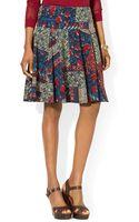 Ralph Lauren Lauren Patchwork Print Skirt - Lyst