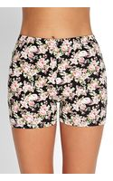 Forever 21 Floral Print Bike Shorts - Lyst