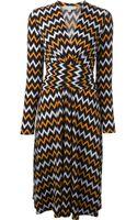 MICHAEL Michael Kors Zig Zag Printed Dress - Lyst