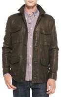 Billy Reid Leather Militaryinspired Field Jacket - Lyst