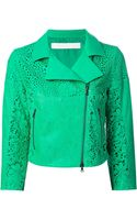 Drome Lazer Cut Leather Jacket - Lyst