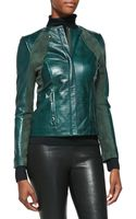 Bagatelle Crocembossed Leather  Suede Jacket - Lyst