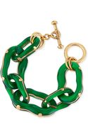 Oscar de la Renta Resin Link Bracelet Green - Lyst