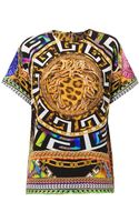 Versace Medusa and Leopardprint Silk Top - Lyst
