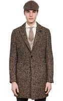 Lardini Wool Blend Herringbone Coat - Lyst