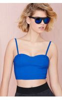 Nasty Gal Cut Short Top  Royal Blue - Lyst