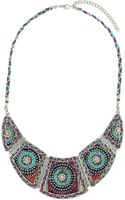 Topshop Plaited Thread Necklace - Lyst