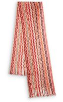 Missoni Multicolor Wave Knit Scarf - Lyst
