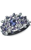 Givenchy Tanzanite Crystal Cluster Large Bangle Bracelet - Lyst