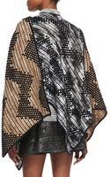 Missoni Zigzag Patterned Mantle Cape Tanwhiteblack - Lyst