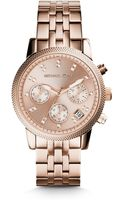 Michael Kors Ritz Rose Gold-tone Stainless Steel Watch - Lyst