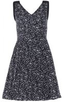Marc By Marc Jacobs Silk and Cottonblend Printed Dress - Lyst